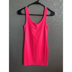 Neon Pink Bodycon Dress